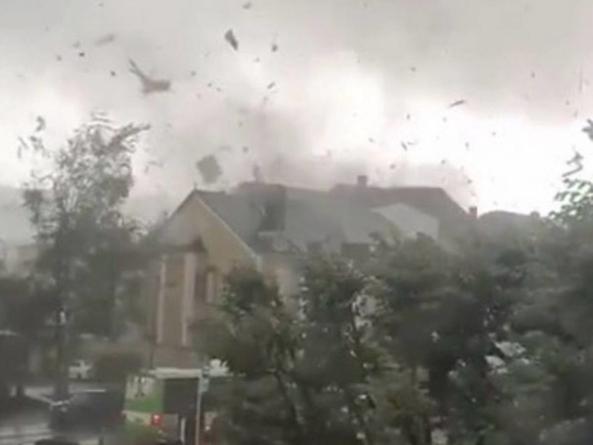 Tornadă devastatoare în Luxemburg și Franța. Imagini terifiante!