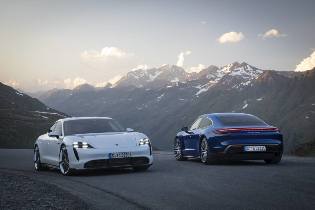 mașini electrice Porsche Taycan
