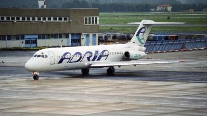 Avioanele Adria nu mai au autorizaţia de a zbura. Compania a solicitat intrarea în faliment