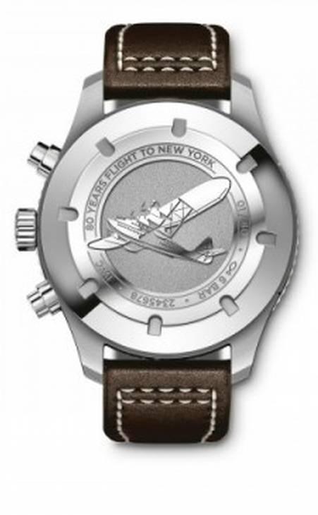 "IWC Pilot's Watch Timezoner Chronograph Edition ""80 Years Flight to New York"""