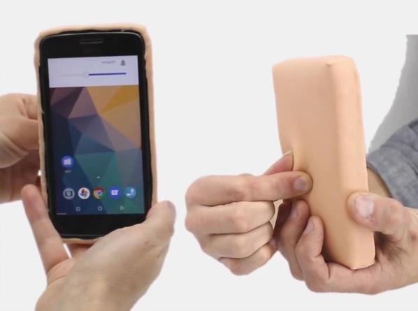 """Interfaţa """"Skin-On"""", nouă tehnologie de control pentru telefoane inteligente"""