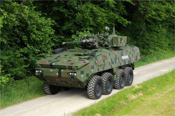 Primele 36 de transportoare Piranha V ale Armatei Române intră în testele finale