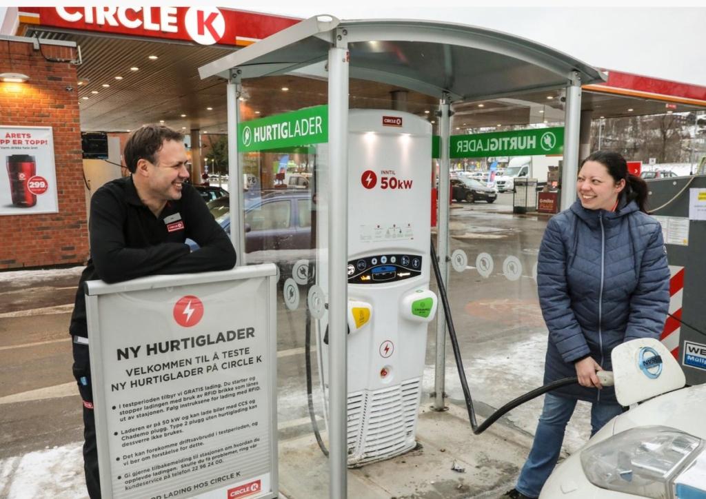 Benzinării mașini electrice Norvegia