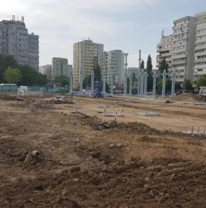 Gabriela Firea se laudă deja cu parcarea Park&Ride din Pantelimon deși lucrările sunt departe de finalizare