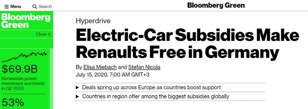 Bloomberg mașini electrice