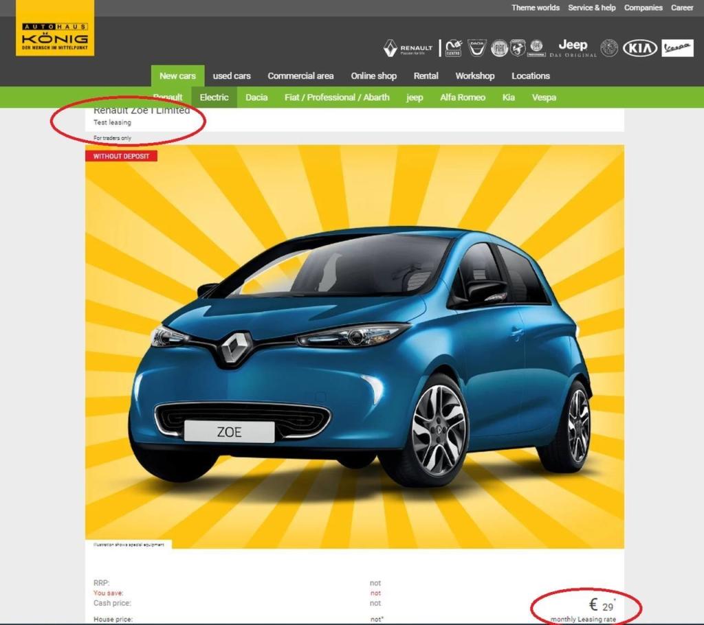 Renault ZOE marketing
