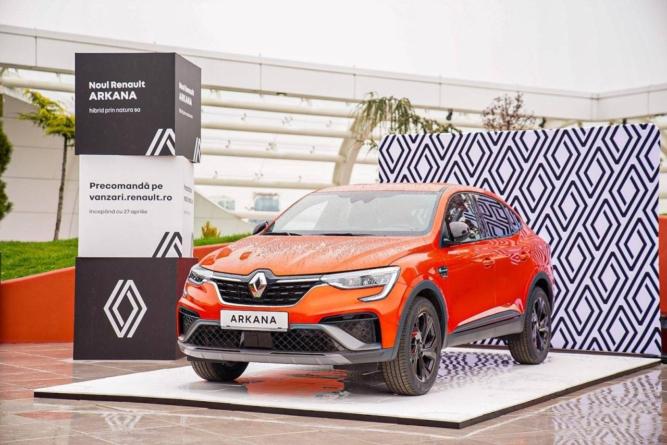 Renault România a prezentat astăzi modelul Arkana și a anunțat deschiderea cataloagelor de precomenzi